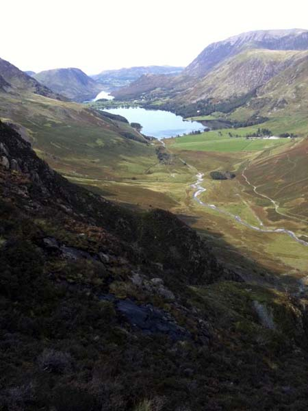 The Buttermere Pikes below